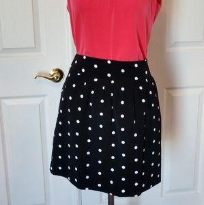 Worthington Black White Polka Dot Skirt
